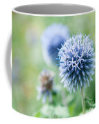 Blue Globe Thistle Flower Coffee Mug