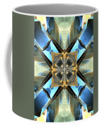 Blue, Green And Gold Abstract Coffee Mug