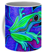 Blue Green Frog Coffee Mug