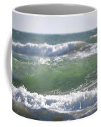 Blue Green Waves Coffee Mug