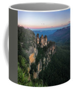 Blue Haze At Sunrise At Ecco Point In Blue Mountains Coffee Mug