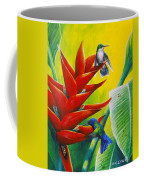 Blue-headed Hummingbirds And Heliconia Coffee Mug