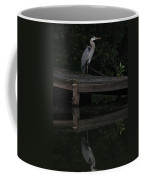 Blue Heron At Dusk Coffee Mug