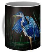 Blue Heron At Night Coffee Mug