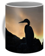 Great Blue Heron At Sunset Coffee Mug
