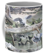 Blue Heron Fight Coffee Mug