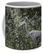 Blue Heron In Grass 4566 Coffee Mug