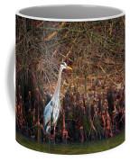 Blue Heron In The Cypress Knees Coffee Mug