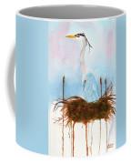 Blue Heron Nesting Coffee Mug