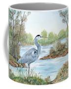 Blue Heron Of The Marshlands Coffee Mug