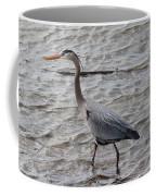 Blue Heron  On The Lake Coffee Mug