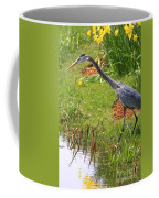Blue Heron Scene Coffee Mug