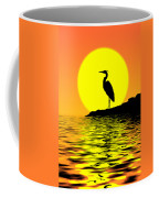 Blue Heron Sunset Coffee Mug
