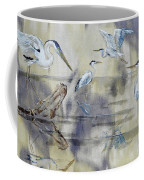 Great Blue Herons Chilling Coffee Mug