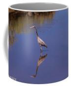 Blue Herron Reflection Coffee Mug