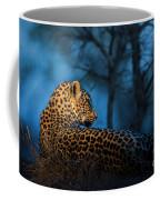 Blue Hour Leopard Coffee Mug