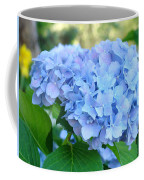 Blue Hydrangea Flowers Art Botanical Nature Garden Prints Coffee Mug