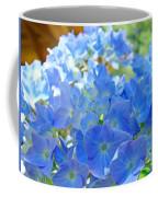 Blue Hydrangea Flowers Art Prints Summer Hydrangeas Baslee Coffee Mug