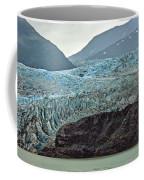 Blue Ice In Fog Coffee Mug