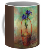 Blue Iris In A Basket Coffee Mug
