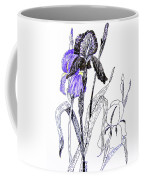 Blue Iris Coffee Mug