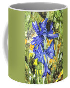 Blue Iris Painting Coffee Mug
