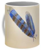 Blue Jay Feathers Coffee Mug