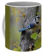 Blue Jay In Red Bud Coffee Mug