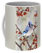 Blue Jay In Snowfall 3 Coffee Mug