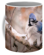 Blue Jay In Winter Coffee Mug