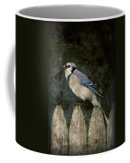 Blue Jay On The Fence Coffee Mug