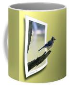 Blue Jay Perched Coffee Mug
