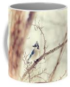 Blue Jay Winter Coffee Mug