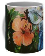 Blue Lady Collage Coffee Mug