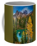 Blue Lake And Early Winter Spires Coffee Mug