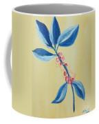 Blue Leaves And Berries Coffee Mug