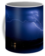 Blue Lightning Sky Over Water Coffee Mug