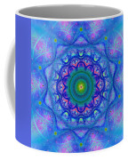 Blue Mandala For Heart Chakra Coffee Mug