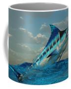 Blue Marlin Burst Coffee Mug