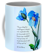 Blue Meconopsis Poppy Coffee Mug