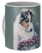 Blue Merle Collie Pup Coffee Mug