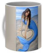 Blue Mermaid's Heart Coffee Mug by Sue Halstenberg