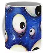 Blue Monster Eyes Coffee Mug