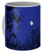 Blue Moon Among The Tree Tops Coffee Mug