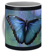 Blue Morpho Butterfly Portrait Coffee Mug