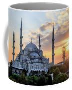 Blue Mosque At Sunset Coffee Mug