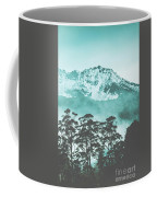 Blue Mountain Winter Landscape Coffee Mug