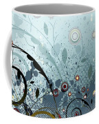 Blue Mystery Forest Of Flowers And Tendrils Coffee Mug