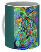 Blue On A Rock Coffee Mug by Kendall Kessler