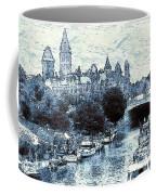 Blue Ottawa Skyline - Water Color Coffee Mug